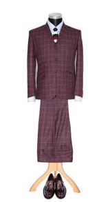 Mod suit | Elton John 3 button tailor made mohair red suit