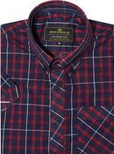 Mod shirt | button down red & black check shirt