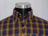 yellow brown check shirt