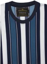 blue striped t shirt