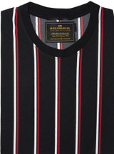 red black striped t shirt