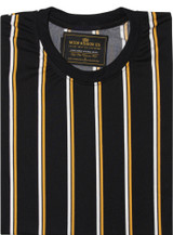 yellow & black striped shirt