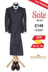 Ringo Starr tailor made green tartan wool suit, Size 40R Jacket, 34/IL30