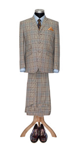 Mod Suit | Ian McLagan 1960's 3 button light brown suit for men