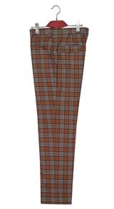 Mod trouser | Ginger Baker 60's style tan glen plaid check trouser
