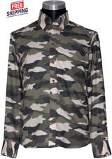 Camo shirt I tailored slim fit long sleeve cream camo shirt