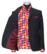 Charcoal flannel wool winter blazer