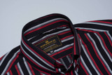 Red striped mod shirt