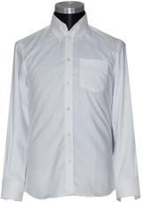 white high collar shirt