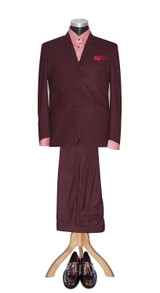 Burgundy wine suit
