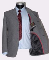 Grey suit, mod style