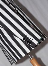 black and white boating blazer