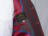 maroon striped boating blazer