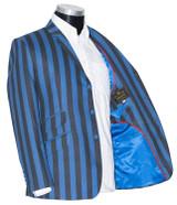 Boating blazer | Vintage blue & black striped mod boating blazer