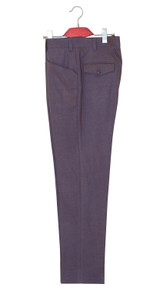 Mod trouser | Purple and gold mohair two tone trouser