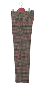 Tweed Vintage style tailored 60's fashion brown dogtooth check trouser