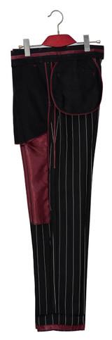 black striped suit