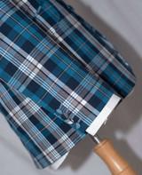 blue madras check jacket
