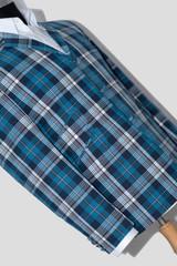 Steve Marriott Classic Blue Madras Check Blazer for Men