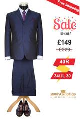 Skinhead 1960s navy blue tonic suit, 40R Jacket, 34/ IL 30 Trouser