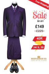 Skinhead 1960s purple tonic suit, 40R Jacket, 34/ IL 30 Trouser