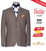 Rick Huxley tweed brown dogtooth blazer, 38R Jacket