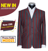 60's mod style multicolor striped boating blazer for men