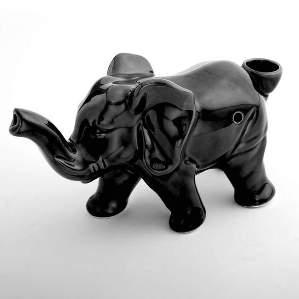 wholesale black elephant ceramic hand pipe