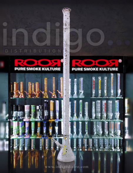 """ROOR Limited Edition 48"""" Swarozski Glass Water Pipe"""