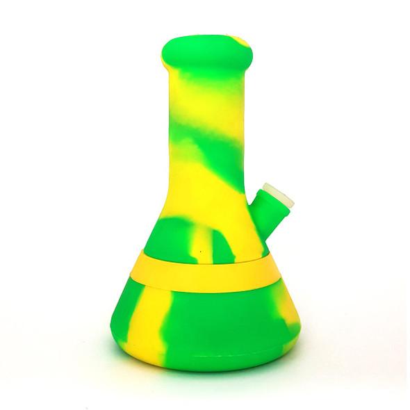 "8"" Beaker Silicone Water Pipe Neon Green"