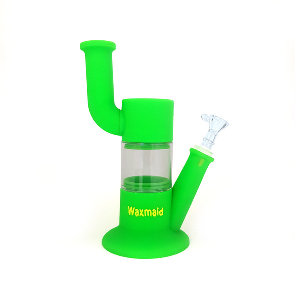 "Waxmaid Robo 10"" Silicone Water Pipe green"