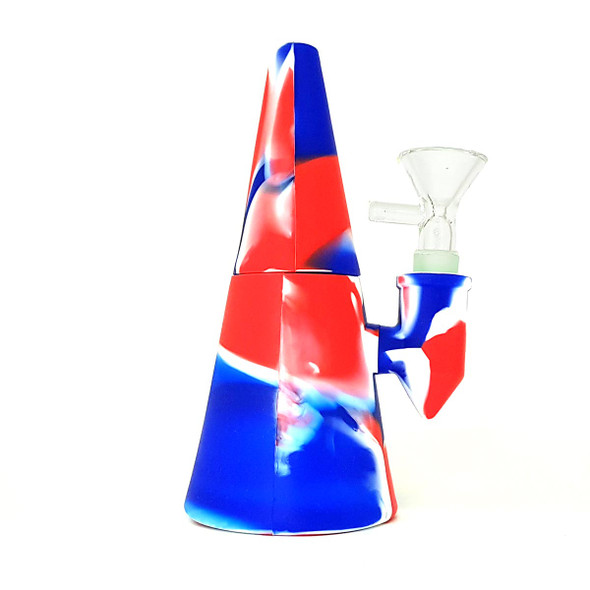 """Unbranded 5"""" SiliCone Water Pipe Patriot"""