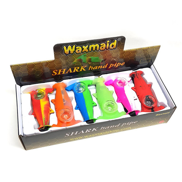 Waxmaid Shark Silicone Hand Pipes 2