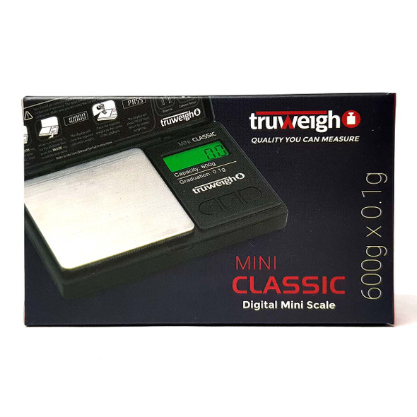 Truweigh Mini Classic Digital Mini Scale 600g x 0.1g front