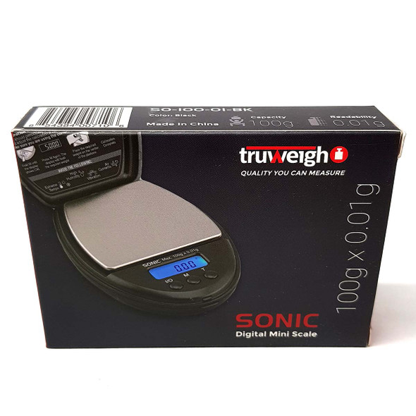 Truweigh Sonic Digital Mini Scale 100g x 0.01g front
