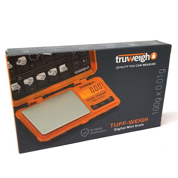 Truweigh Tuff-Weigh Digital Mini Scale 100g x 0.01g orange front