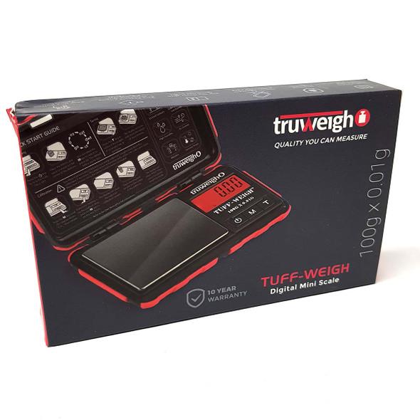 Truweigh Tuff-Weigh Digital Mini Scale 100g x 0.01g red front