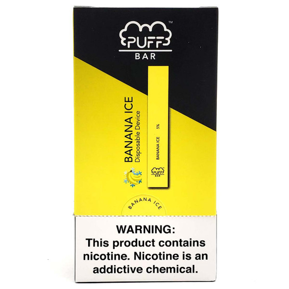 PUFF Bar Disposable Vape - Banana Ice (10 pack) front
