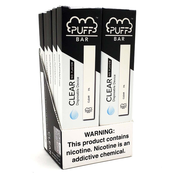 PUFF Bar Disposable Vape - Banana Ice (10 pack) display