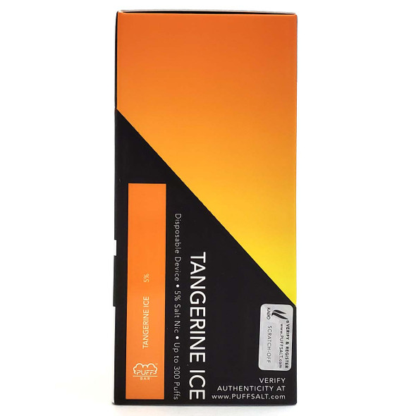 PUFF Bar Disposable Vape - LIMITED EDITION Tangerine Ice Wholesale pack of 10