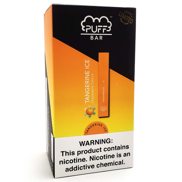 Wholesale PUFF Bar Disposable Vape - LIMITED EDITION Tangerine Ice (10 pack)