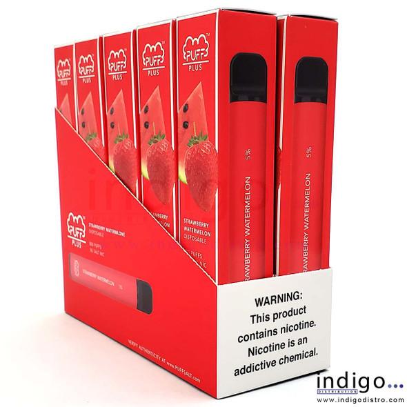 Wholesale Puff Plus Disposable Vape 10 Pack - Strawberry Watermelon
