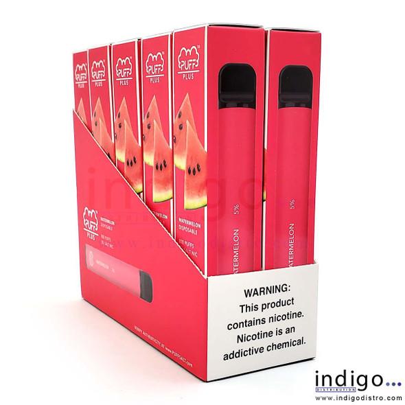 Wholesale Puff Plus Disposable Vape 10 Pack - Watermelon