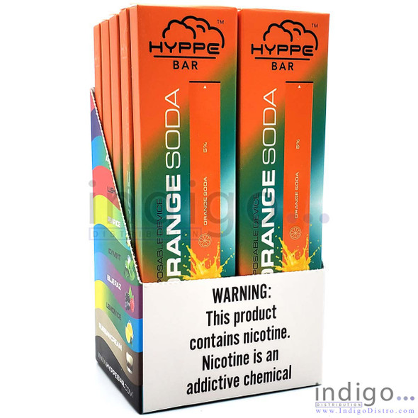 Hyppe Disposable Vape - Wholesale Box of 10 - Orange Soda display