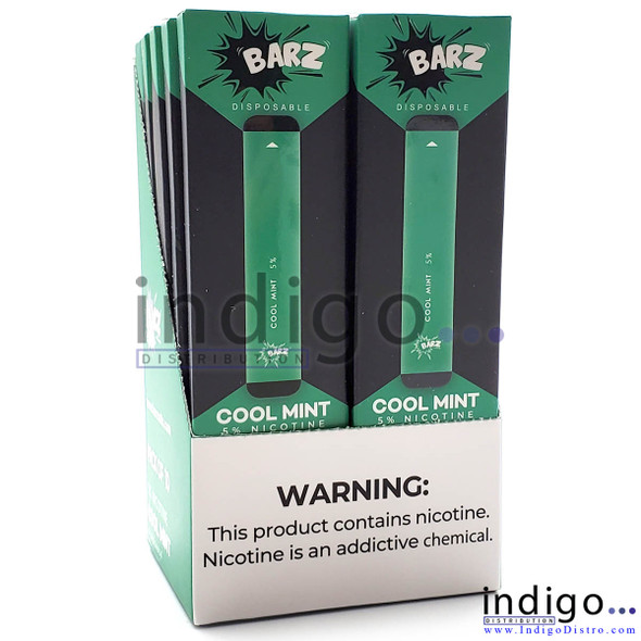 Wholesale Barz Disposable Vape - 10 pack - Cool Mint