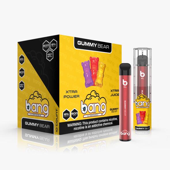 Wholesale Bang XL Disposable Vape 600 Puffs - Gummy Bear