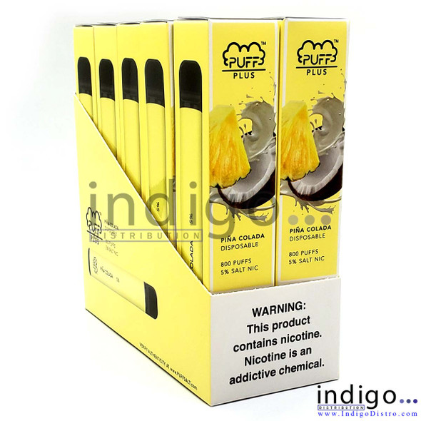 Wholesale Puff Plus Disposable Vape 10 Pack - Pina Colada