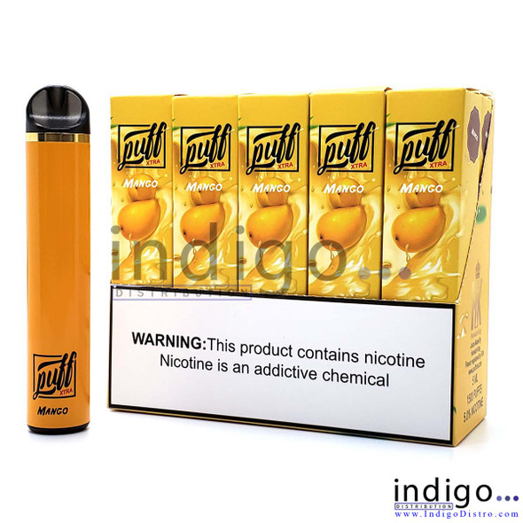 Puff Xtra 1500 PUFFS Disposable Vape - Mango