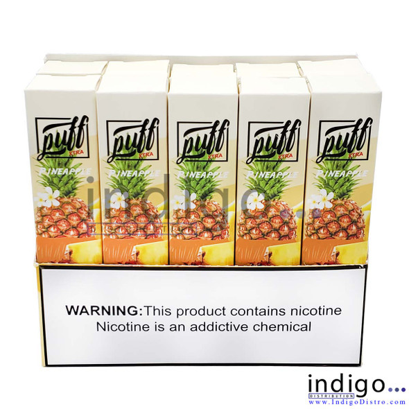 Wholesale Puff Xtra 1500 PUFFS Disposable Vape - Pineapple
