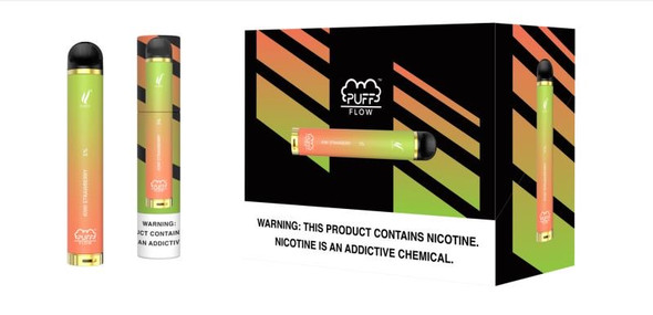 Wholesale Puff Flow Disposable Vape 10 pack - Kiwi Strawberry
